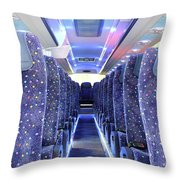 Inside Of New Bus  Throw Pillow