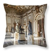 Inside One Of The Rooms Of The Capitoline Museums In Rome, Italy  Throw Pillow