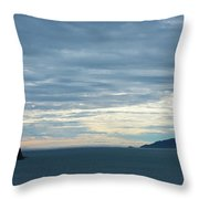Inside Passage Sunset Throw Pillow