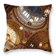 Inside Saint Matthew's Cathedral -- At An Angle Throw Pillow