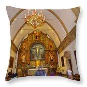 Inside Sanctuary At Carmel Mission-california  Throw Pillow