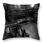 Inside Slater Mill Throw Pillow