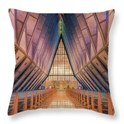 Inside The Cadet Chapel Throw Pillow