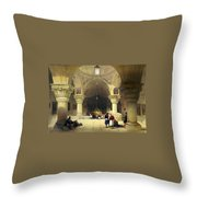 Inside The Church Of The Holy Sepulchre In Jerusalem Throw Pillow