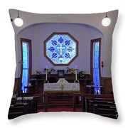 Inside The Church Of The Mediator Throw Pillow