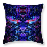 Inside The Electric Temple After Nightfall Throw Pillow