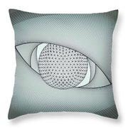 Inside The Eye Throw Pillow