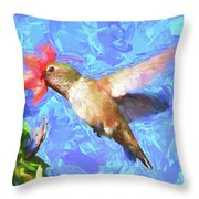 Inside The Flower - Impressionism Finish Throw Pillow