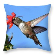 Inside The Flower Posterized  Throw Pillow