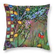 Inside The Garden Wall Throw Pillow