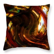 Inside The Magick Book Shop Throw Pillow