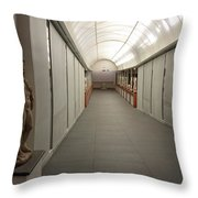 Inside The Museum Throw Pillow