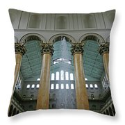 Inside The National Building Museum Throw Pillow