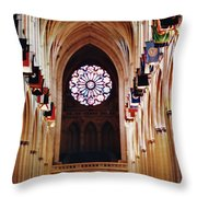 Inside The National Cathedral Throw Pillow