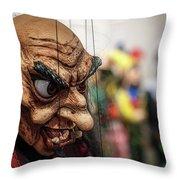 Inside The Puppet Store - Prague Throw Pillow