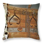 Inside The Tool Shed Throw Pillow