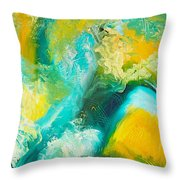 Inside The Wave Throw Pillow