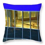 Inside The Windows  Throw Pillow