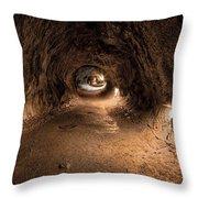 Inside Thurstons Lava Tube Throw Pillow