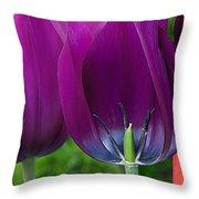 Inside Tulip Throw Pillow