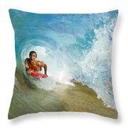 Inside Wave Tube Throw Pillow