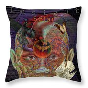 Insight To Speak Of..  Solar Throw Pillow by Joseph Mosley