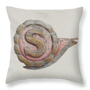 "Insignia Letter ""s"" Throw Pillow"