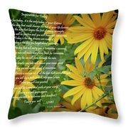 Inspiration For Today Floral Throw Pillow