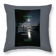 Inspiration In Darkness Throw Pillow