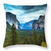 Inspiration Point Yosemite Throw Pillow
