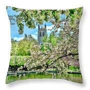 Inspirational - Cherry Blossoms Throw Pillow