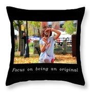 Inspirational- Focus Throw Pillow