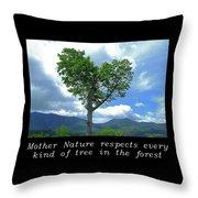 Inspirational-mother Nature Throw Pillow