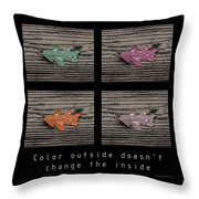 Inspirational Poster-color Outside Throw Pillow