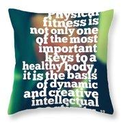 Inspirational Quotes - Motivational - John F. Kennedy 3 Throw Pillow