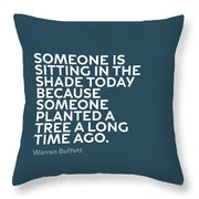 Inspirational Quotes Series 003 Warren Buffett Throw Pillow