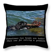 Inspirational-two Heads Throw Pillow