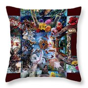 Inspireation With Walls Throw Pillow