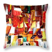 Inspired By Picasso Throw Pillow