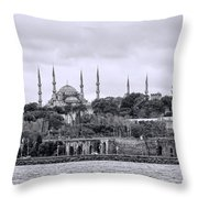 Instanbul In Black And White Throw Pillow