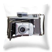 Instant Vintage Polaroid Camera Throw Pillow