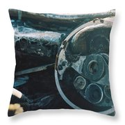 The Slow Disintegration Of A Tvr Dashboard Throw Pillow