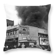 Insurance Company Fire Throw Pillow