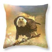 Intense Eagle Stare Throw Pillow