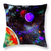 Intense Galaxy Throw Pillow