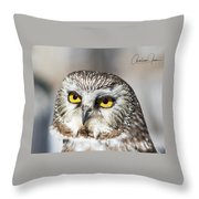 Intense Look Throw Pillow