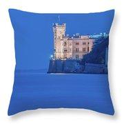 Intensely Blue Throw Pillow