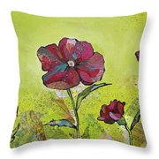 Intensity Of The Poppy II Throw Pillow