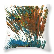 Intensive Abstract Expressionism Series 64.102511 Throw Pillow