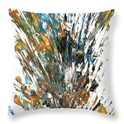 Intensive Abstract Painting 519.112011 Throw Pillow